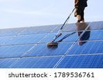 Cleaning Solar Panels With...