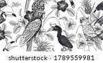 tropical floral seamless... | Shutterstock .eps vector #1789559981
