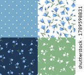 set of four vector floral... | Shutterstock .eps vector #1789598831