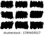 grunge vector black banners set....   Shutterstock .eps vector #1789605017