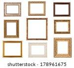 Series Of Vintage Golden Frame...