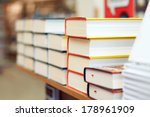 stacks of books in the bookstore | Shutterstock . vector #178961909