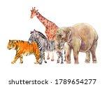 watercolor jungle  safari... | Shutterstock . vector #1789654277