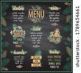 tropic style menu chalkboard...   Shutterstock .eps vector #1789654661