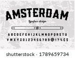 alphabet vintage font  typeface ... | Shutterstock .eps vector #1789659734
