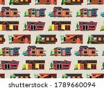 seamless pattern with small... | Shutterstock .eps vector #1789660094