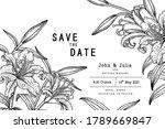 sketch floral decorative set.... | Shutterstock .eps vector #1789669847