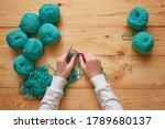 Female Hands Crochet Handmade...