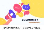 community announcement with... | Shutterstock .eps vector #1789697831
