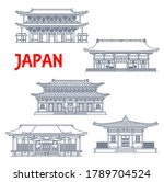 japanese temples  shrines and...   Shutterstock .eps vector #1789704524