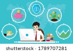 financial literacy course for... | Shutterstock .eps vector #1789707281