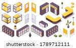 isometric set of items for 3d... | Shutterstock .eps vector #1789712111