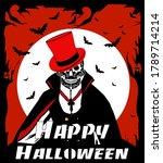 Happy Halloween Skull Dracula...