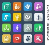 icon set in colorful for...   Shutterstock .eps vector #178972745