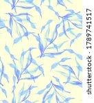 handmade watercolor seamless... | Shutterstock . vector #1789741517