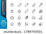 simple set of outline icons... | Shutterstock .eps vector #1789745501