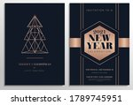 new year party invitation set... | Shutterstock .eps vector #1789745951