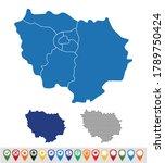 set outline maps of  le de... | Shutterstock .eps vector #1789750424