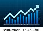 growth diagram with an arrow...   Shutterstock .eps vector #1789770581