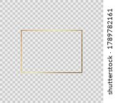 realistic gold frame. perfect... | Shutterstock .eps vector #1789782161