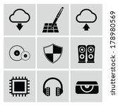 web media icons vector   Shutterstock .eps vector #178980569