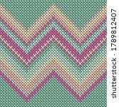 woolen zig zal lines christmas... | Shutterstock .eps vector #1789812407