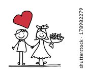 hand drawing cartoon character... | Shutterstock .eps vector #178982279