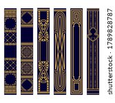 set of vertical spines of books ... | Shutterstock .eps vector #1789828787