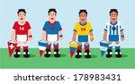 soccer teams | Shutterstock .eps vector #178983431