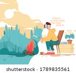 camping use virtual reality in... | Shutterstock .eps vector #1789835561