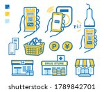 stores that support smartphone... | Shutterstock .eps vector #1789842701