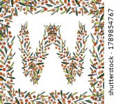 letter w of the english and... | Shutterstock . vector #1789854767