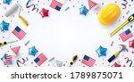 usa labor day sale poster... | Shutterstock .eps vector #1789875071