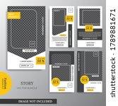stories for various social... | Shutterstock .eps vector #1789881671