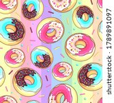 seamless pattern with colorful...   Shutterstock .eps vector #1789891097