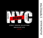 new york city stylish t shirt... | Shutterstock .eps vector #1789902704