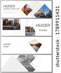 vector layout of headers ... | Shutterstock .eps vector #1789911431