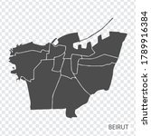 high quality map of beirut is a ...