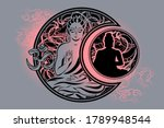 stylish image of lord buddha in ...   Shutterstock .eps vector #1789948544