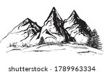 landscape  mountain silhouette  ... | Shutterstock .eps vector #1789963334