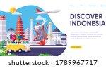 discover indonesia landmarks... | Shutterstock .eps vector #1789967717