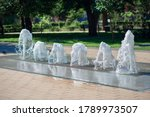 Dry Fountain In The Summer Cit...
