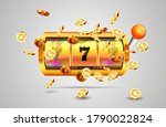 golden slot machine wins the... | Shutterstock .eps vector #1790022824