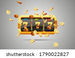 golden slot machine wins the... | Shutterstock .eps vector #1790022827