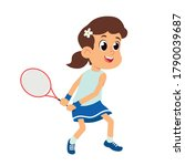 Girl Learns To Play Tennis....