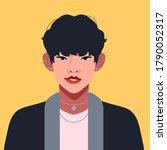 portrait of a korean fashion... | Shutterstock .eps vector #1790052317