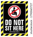 social distance   sitting... | Shutterstock .eps vector #1790065727