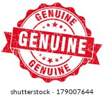 genuine red grunge stamp | Shutterstock . vector #179007644