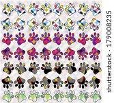 footprints of vertebrates ... | Shutterstock .eps vector #179008235