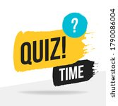 quiz time icon  emblem  logo in ...   Shutterstock .eps vector #1790086004